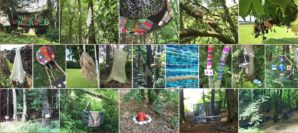 Impressionen vom Textilen Kunstwanderweg 2016 in Much